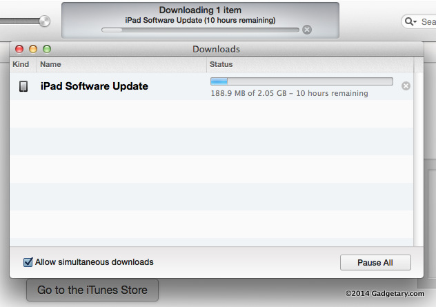 Updating via iTunes